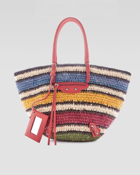 Panier Basket Tote Bag, Multicolor