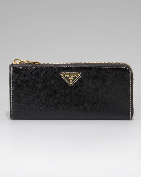 Saffiano Zip Wallet