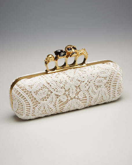 Lace Knuckle-Duster Clutch