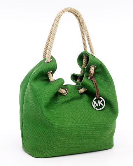 Marina Large Shoulder Tote, Garden