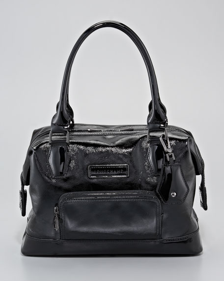 Legende Verni Medium Satchel Bag, Black