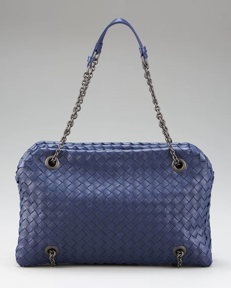 Duo Woven Leather Shoulder Bag