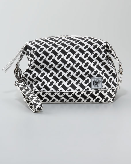 Tiny Travel Vanity Bag, Chain Link