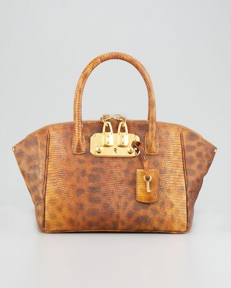 Brera Lizard Shoulder Bag