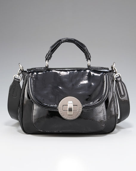 Patent Exploded Dot Lock Petite Rue Satchel