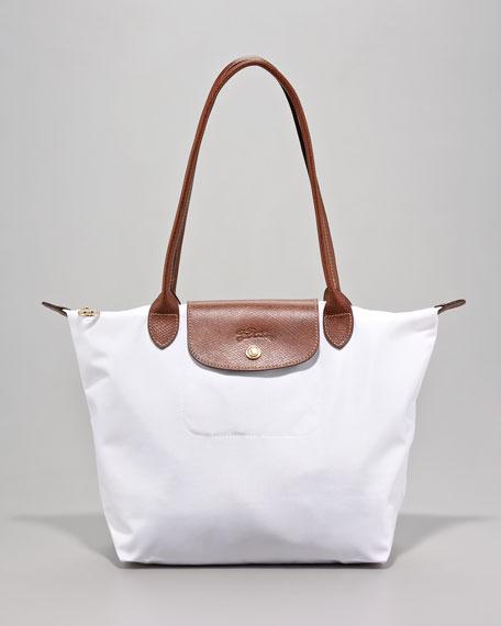 Le Pliage Small Shoulder Tote Bag, White