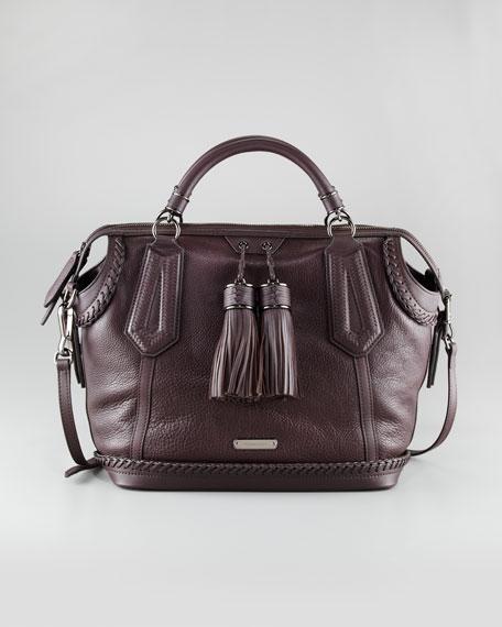 Medium Leather Tassel Tote Bag