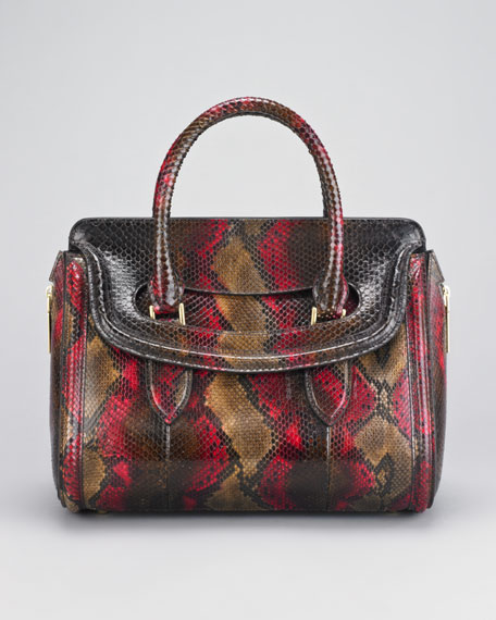 Small Heroine Python Satchel Bag