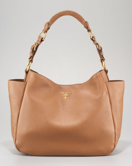 prada canada handbags - Prada Vitello Daino Pocket Hobo Bag