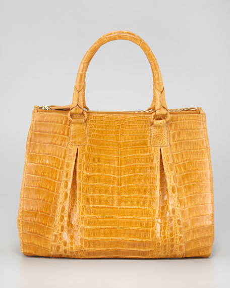 Crocodile Top-Handle Tote Bag