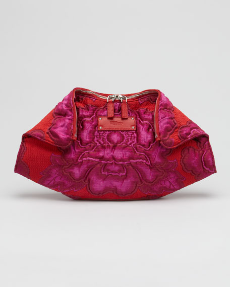De-Manta Big Flower Clutch Bag