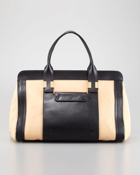 Alice Large Satchel Bag, Stem Ginger