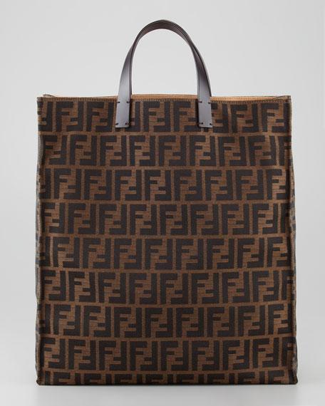 Zucca Always Shopper Tote Bag, Tobacco/Brown