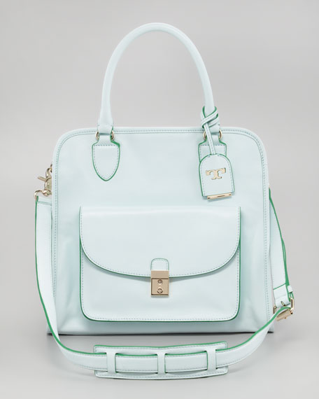 Priscilla  Pocket Tote Bag, Emerald
