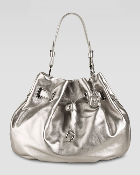 Cornelia Ellie Large Pouch Bag, Silver
