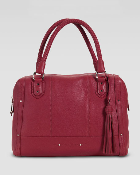 Varick Kendra Satchel Bag, Red