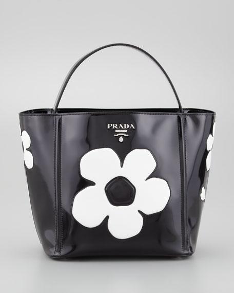 Spazzolato Floral Open Bucket Bag