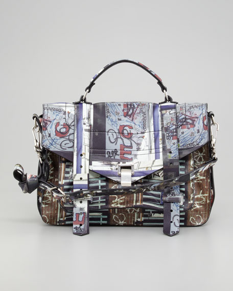 PS1 Medium Gotham-Print Satchel Bag