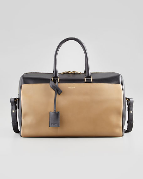 Classic Two-Tone Duffel Bag, Black/Gold