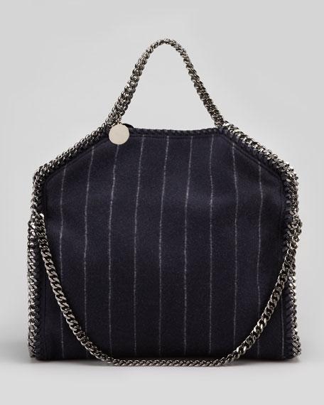 Falabella Pinstripe Fold-Over Tote Bag