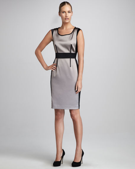 Lisa Colorblock Satin Dress