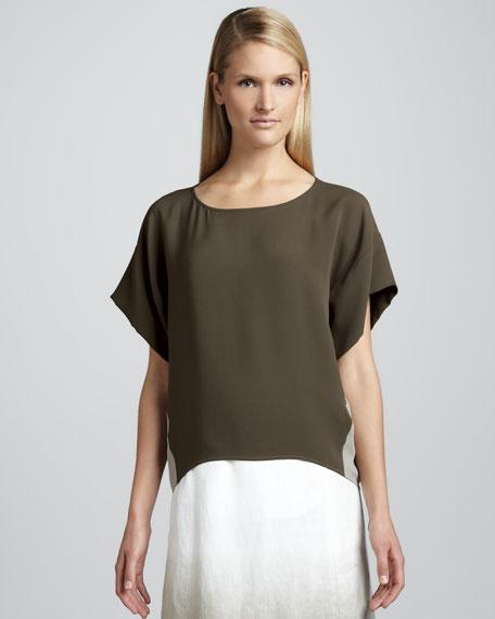 Nadia Two-Tone Silk Top