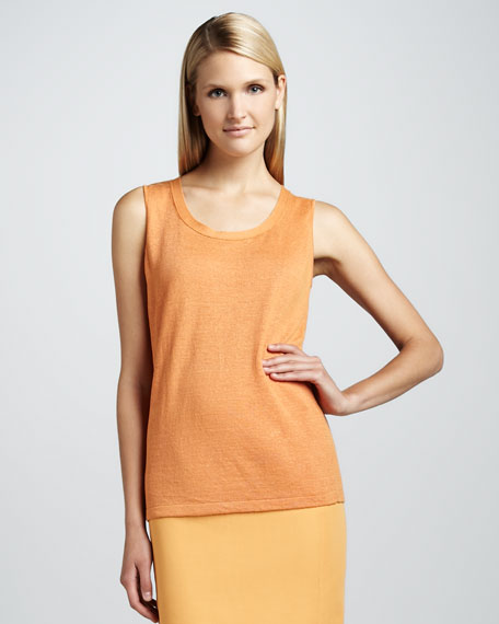 Sleeveless Linen Shell