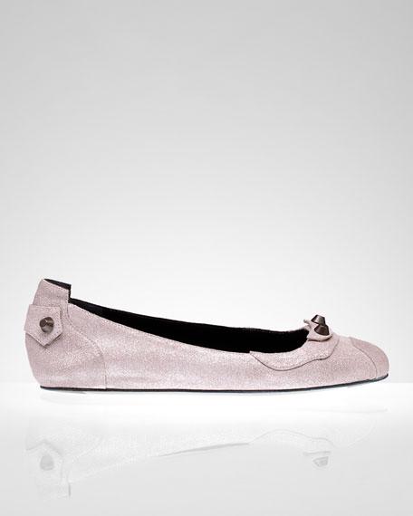 Exclusive Craquele Ballet Flat, Bois de Rose