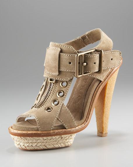 Burberry Suede Platform Sandal