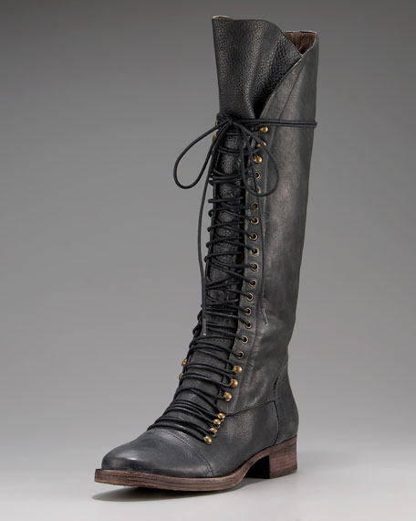 Joie Tall Lace-Up Boot