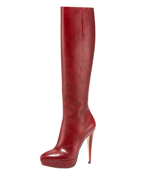 Pointed Toe Platform Boot