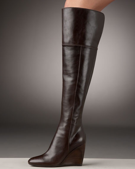 Sergio Rossi Over-the-Knee Wedge Boot