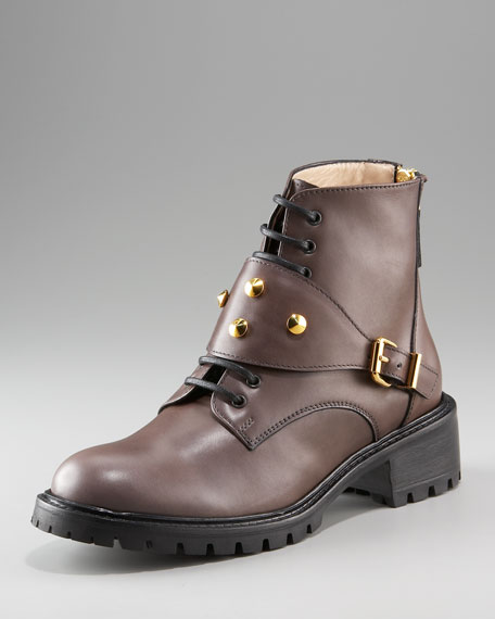 Studded-Strap Boot