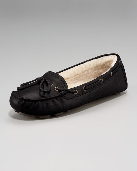Shearling-Lined Driver Moccasin