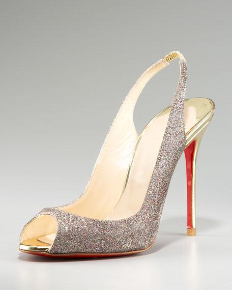 Sexy Sling Glittered Stiletto