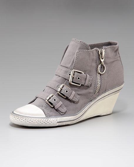 Canvas Low Wedge Sneaker