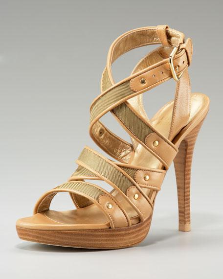 Mesh Strappy Sandal