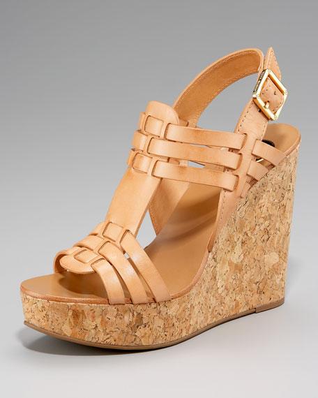 Leslie Cork-Wedge Sandal