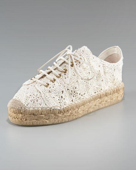 Cailin Crochet Lace-Up Espadrille