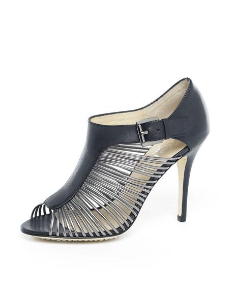 Ramsey Sandal, Gunmetal/Black or Silver/Taupe