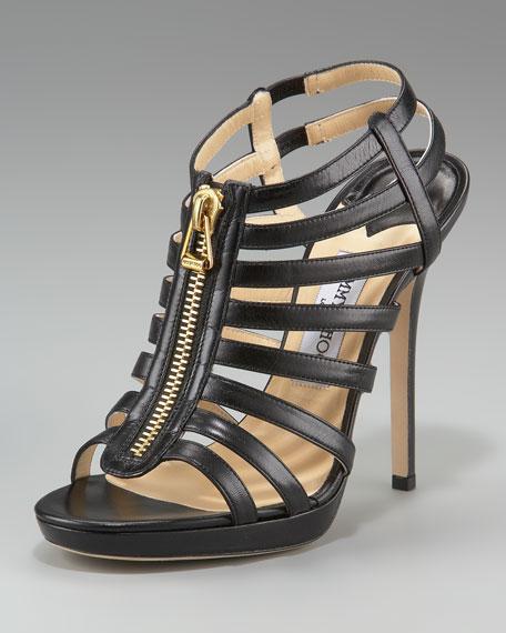 Glenis Leather Gladiator Sandal, Back