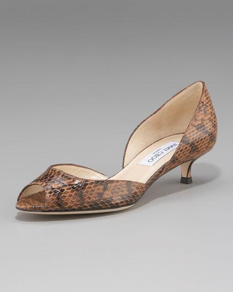 Snake Kitten-Heel d'Orsay