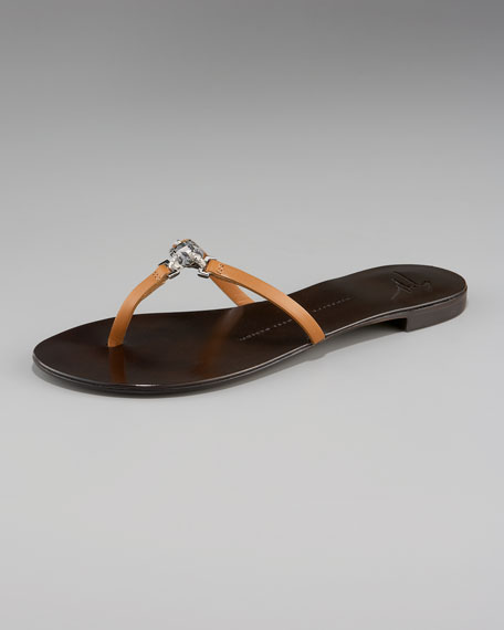 Thong Sandal with Stones