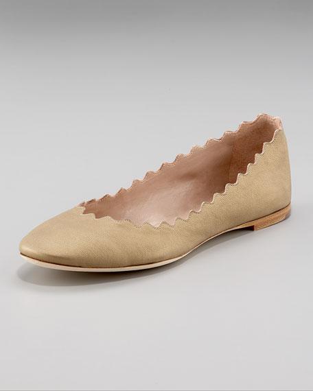 Scalloped Ballerina Flat