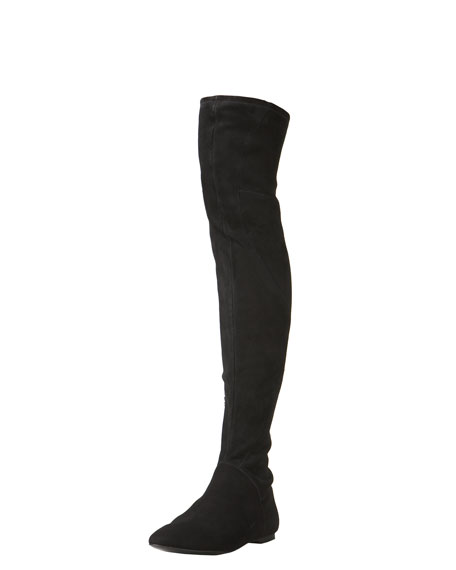 Suede Stretch Over-the-Knee Boot