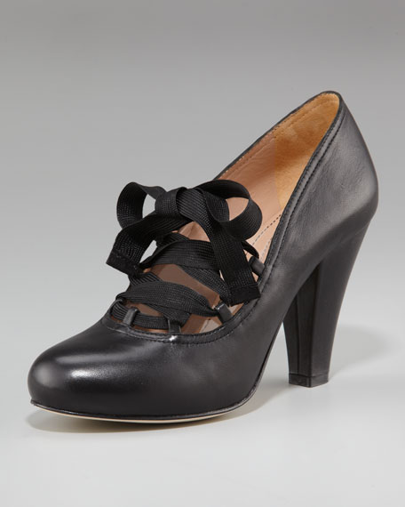Lace-Up Mary Jane Pump