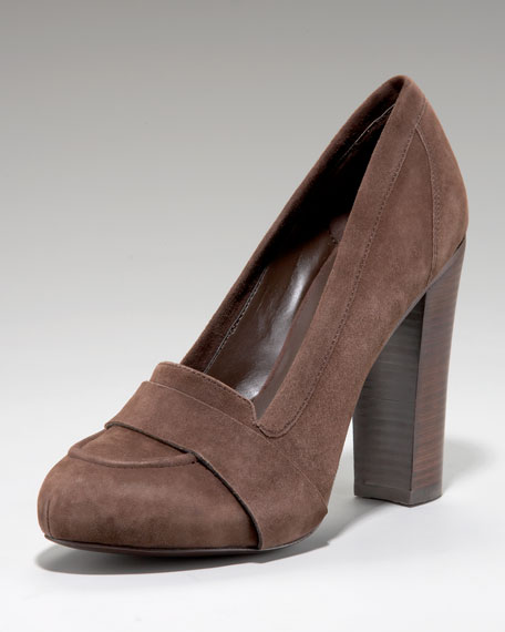Roxanne Suede Loafer Pump