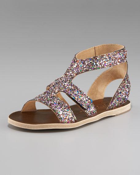 Glitter Flat Sandal