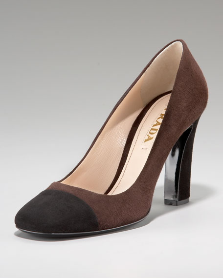 Bi-Color Square Toe Pump