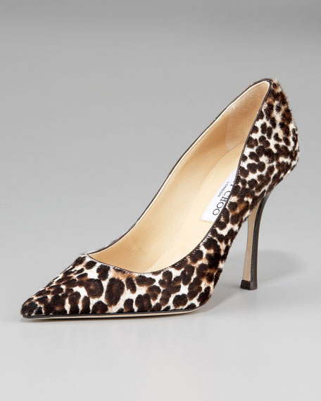Pointed-Toe Printed Pump